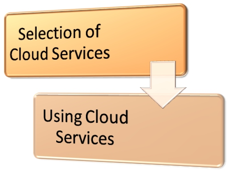 There are broadly speaking two key stages for cloud service adoption.